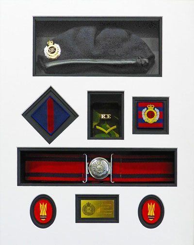 Soldiers uniform mounting
